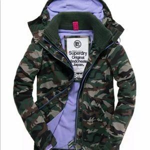 Lk New Superdry Windcheater jacket coat camo M